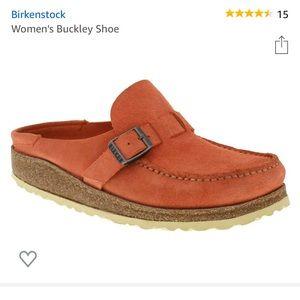 Birkenstock Buckley shoe in coral. EUC. Size 37/